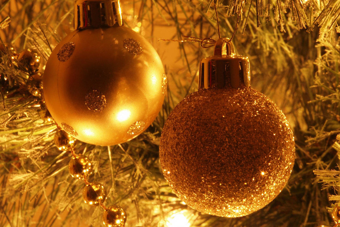Christmas tree decorations wide